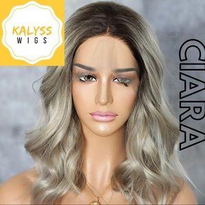 """""""Ciara"""" ash blonde beach wave wig"""